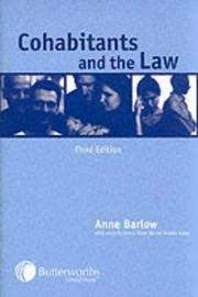 Cohabitants and the Law by Anne Barlow