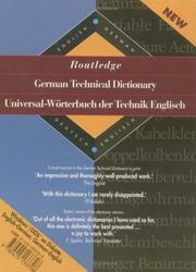 Routledge German Technical Dictionary (diskette) PDF