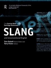 Cover of: The concise new Partridge dictionary of slang and unconventional English by Eric Partridge