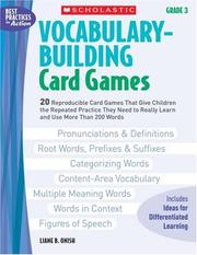 Vocabulary-Building Card Games: Grade 3 by Liane Onish