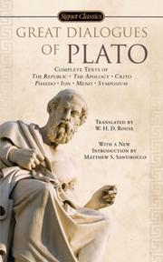 Cover of: Great Dialogues of Plato by Plato