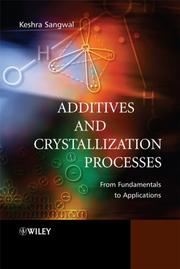 Additives and crystallization processes PDF