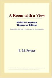 Cover of: A Room with a View (Webster's German Thesaurus Edition) by E. M. Forster