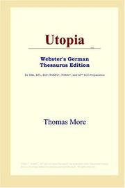 Cover of: Utopia (Webster's German Thesaurus Edition) by Thomas More