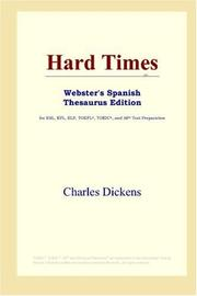 Cover of: Hard Times (Webster's Spanish Thesaurus Edition) by Nancy Holder