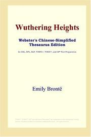 Cover of: Wuthering Heights (Webster&#39;s Chinese-Simplified Thesaurus Edition) by Emily Bront