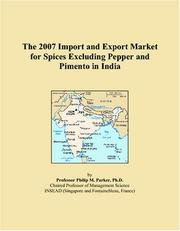 The 2007 Import and Export Market for Spices Excluding Pepper and Pimento in India PDF