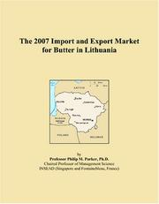 The 2007 Import and Export Market for Butter in Lithuania PDF