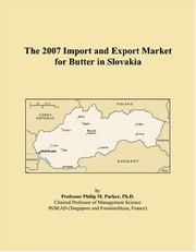The 2007 Import and Export Market for Butter in Slovakia PDF