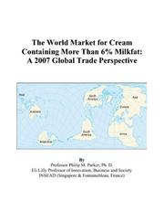 The World Market for Cream Containing More Than 6% Milkfat PDF