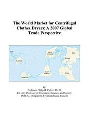 The World Market for Centrifugal Clothes Dryers PDF
