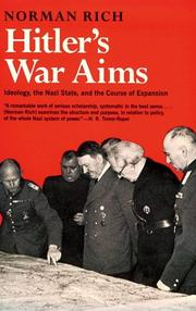 Hitler's war aims by Norman Rich