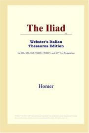 Cover of: The Iliad (Webster's Italian Thesaurus Edition) by Homer