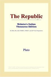 Cover of: The Republic (Webster&#39;s Italian Thesaurus Edition) by Plato
