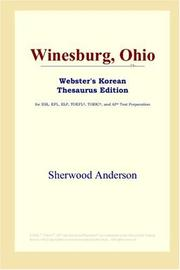 Cover of: Winesburg, Ohio (Webster's Korean Thesaurus Edition) by Sherwood Anderson