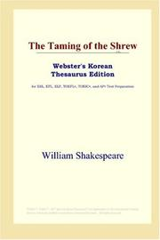 Cover of: The Taming of the Shrew (Webster's Korean Thesaurus Edition) by William Shakespeare
