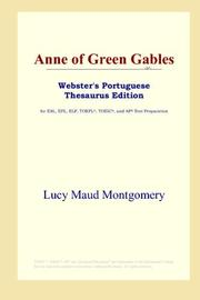 Cover of: Anne of Green Gables (Webster's Portuguese Thesaurus Edition) by L. M. Montgomery