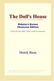 Cover of: The Doll's House (Webster's Korean Thesaurus Edition) by Henrik Ibsen