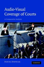 Audio-visual coverage of courts by Daniel Stepniak