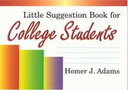 Little Suggestion Book For College Students PDF