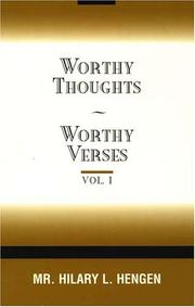 Worthy Thoughts ~ Worthy Verses PDF
