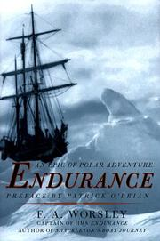 Cover of: Endurance by Frank Arthur Worsley