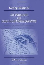 Die Probleme der Geschichtsphilosophie by Georg Simmel