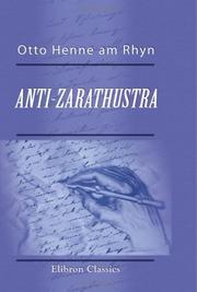 Anti-Zarathustra
