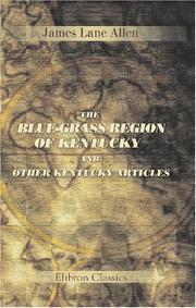 The blue-grass region of Kentucky PDF