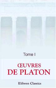 Cover of: uvres de Platon by Plato