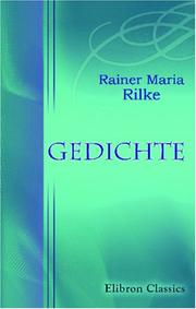 Cover of: Gedichte by Rainer Maria Rilke