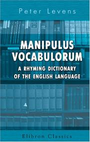 Manipulus vocabulorum by Peter Levens