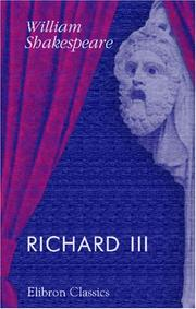 Cover of: Richard III by William Shakespeare