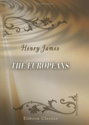 Cover of: The Europeans by Henry James, Jr.