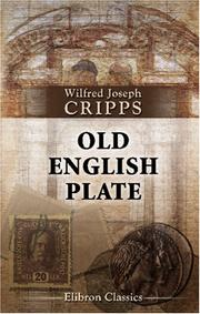 Old English plate by Wilfred Joseph Cripps