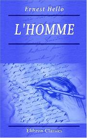 L&#39; homme by Ernest Hello