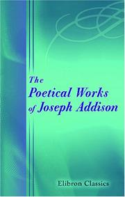 Poems by Joseph Addison