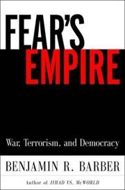 Fear&#39;s Empire by Barber, Benjamin R.