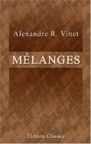Mélanges by Vinet, Alexandre Rodolphe