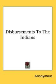 Disbursements to the Indians PDF