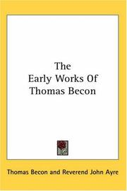 The early works of Thomas Becon PDF