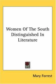 Women of the South distinguished in literature PDF