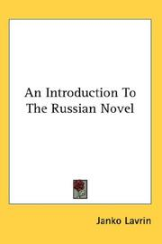 An introduction to the Russian novel PDF