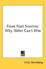 From Nazi sources by Sternberg, Fritz