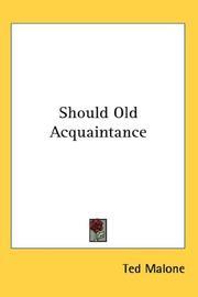 Should Old Acquaintance PDF