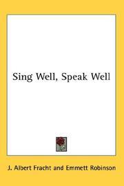 Sing Well, Speak Well PDF