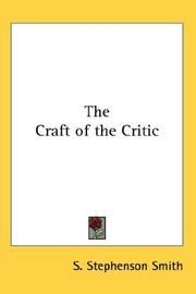 The Craft of the Critic PDF
