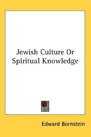 Jewish Culture Or Spiritual Knowledge PDF