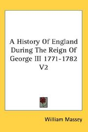 A History Of England During The Reign Of George III 1771-1782 V2 PDF