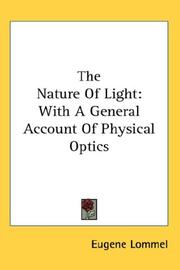 The nature of light by Eugene Lommel